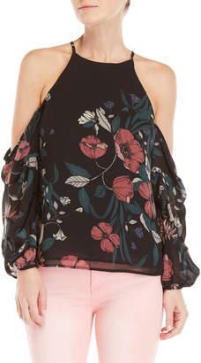 Bardot Cold Shoulder Floral Top