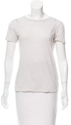 Helmut Lang Open Back Short Sleeve Top