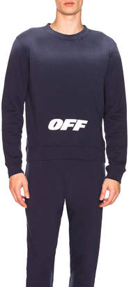 Off-White Off White Wing Off Crewneck in Blue & White | FWRD