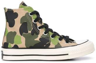 Converse camouflage pattern hi-tops