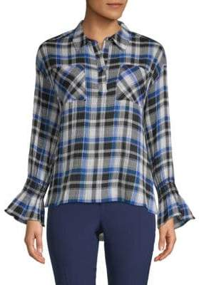 Laundry by Shelli Segal Plaid Collared Top