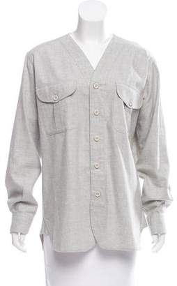 Timo Weiland V-Neck Button-Up Top