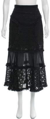 Andrew Gn Eyelet Midi Skirt