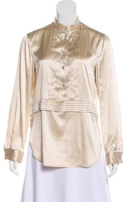 Armani Collezioni Silk Long Sleeve Top