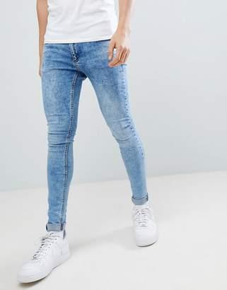 Criminal Damage Super Skinny Jeans In Blue