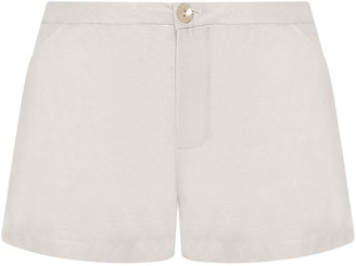Gisy Silk Shorts Cream White