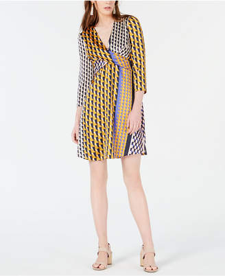 7ed953dfa9e Bar III Geo-Print Twist-Front Dress
