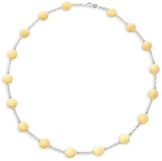 Gurhan Women's Lush 24K Goldplated Sterling Silver Flake Station Necklace