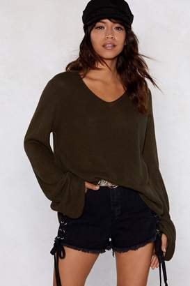 Nasty Gal Such a Light Weight Flare Sleeve Sweater