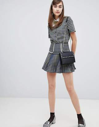 Sister Jane mini skirt in check two-piece