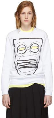 Comme des Garcons White Mask Print Sweatshirt