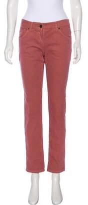Brunello Cucinelli Mid-Rise Straight-Leg Jeans Coral Mid-Rise Straight-Leg Jeans