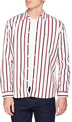 Tommy Hilfiger Tommy Jeans Men's Button Down Shirt Bold Stripe