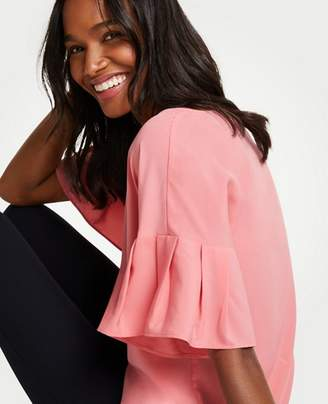Ann Taylor Tall Flutter Sleeve Top