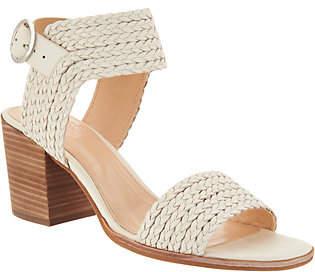 Vince Camuto Leather Block Heel Sandals- Kolema
