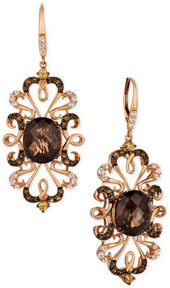 LeVian Le Vian Crazy Collection Multi-Gemstone(9-1/4 cttw) Drop Earrings in 14k Rose Gold