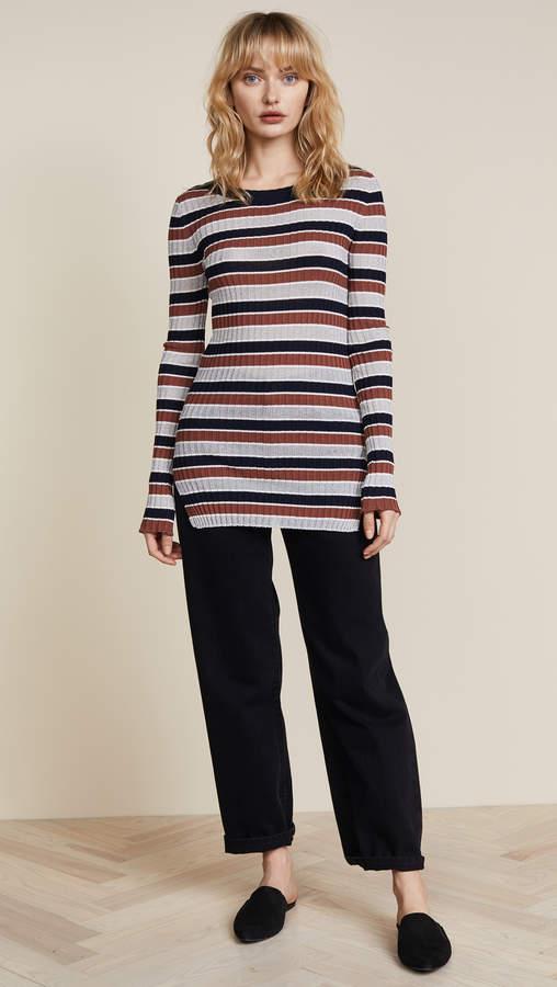 Apiece Apart Stripe Rib Sweater