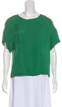 3.1 Phillip Lim Silk Short Sleeve Top Silk Short Sleeve Top