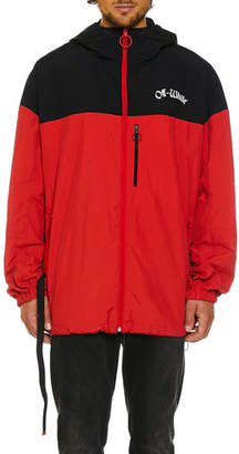 Off-White Men's Full-Zip Wind-Resistant Jacket