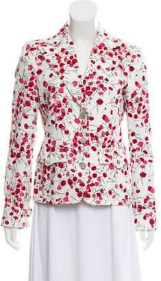 Dolce & Gabbana Denim Floral Blazer
