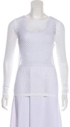 Helmut Lang Long Sleeve Fishnet Top