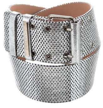 Chanel Metallic Leather Waist Belt