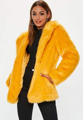 Missguided Faux Fur Collared Coat
