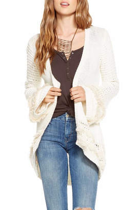 Chaser Bell-Sleeve Open Cardigan