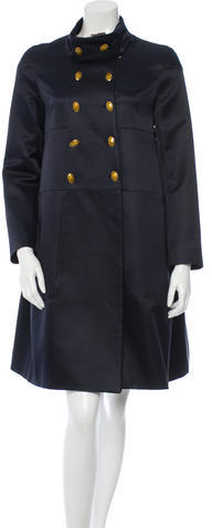 ValentinoValentino Double-Breasted Wool-Blend Coat w/ Tags