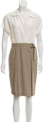 Akris Punto Silk Button Up Dress