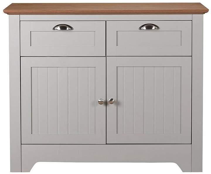 Devon Compact Sideboard - Grey/Walnut