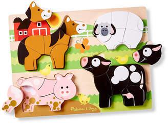 Melissa & Doug Chunky Jigsaw Puzzle - Farm Animals
