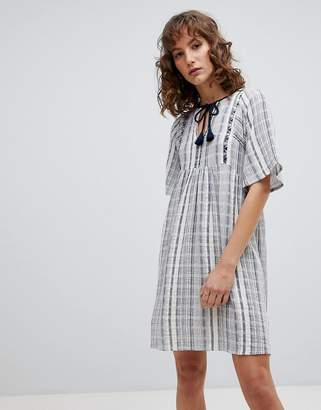 Suncoo Striped Smock Dress