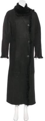 Neiman Marcus Long Suede Coat