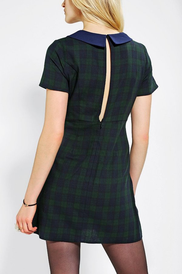 Babydoll Coincidence & Chance Collared Plaid Dress