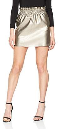 Only Women's Onlsweet Pearl Faux Leather OTW Skirt,(Manufacturer Size: Medium)