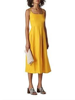 Whistles Duffy Linen Strappy Dress