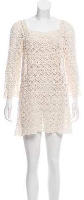 Anna Sui Crocheted Mini Dress