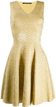 Valenti Antonino brocade flared dress