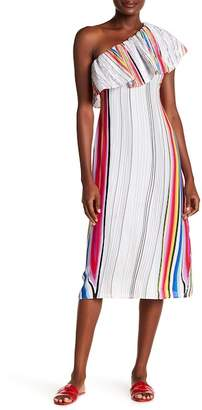 Rachel Roy Rainbow Midi Dress