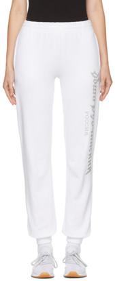 Gosha Rubchinskiy White Logo Lounge Pants $210 thestylecure.com