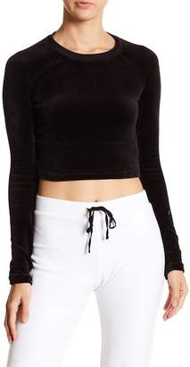 Juicy Couture Velour Long Sleeve Cropped Top