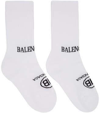 Balenciaga White BB Socks