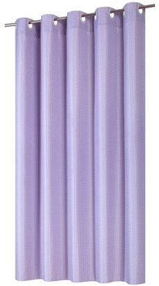 Carnation Home Fashions EZ-ON Waffle Weave Fabric Shower Curtain with built in snap off liner in color Lilac