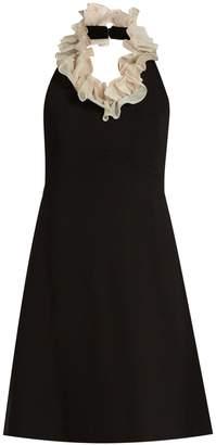 Isa Arfen Shrimpton ruffled-neck cotton dress