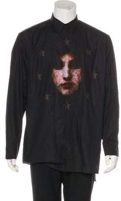 Givenchy Madonna Stars Button-Up Shirt