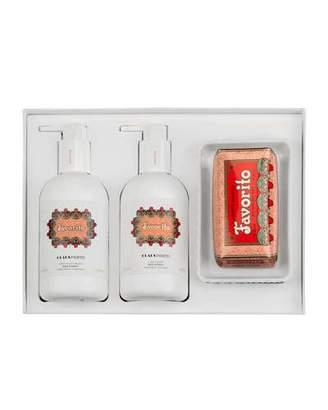 Claus Porto Exclusive FAVORITO Liquid Soap+Body Moisturizer+Soap Gift Set