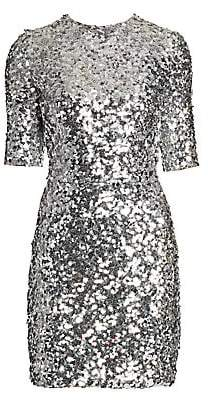 Dolce & Gabbana Women's Short-Sleeve Sequin Mini Dress