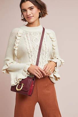BB Dakota Ruffled Cable-Knit Sweater