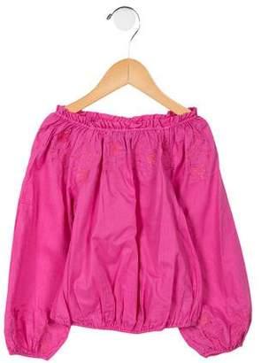 Ralph Lauren Girls' Long Sleeve Embroidered Top